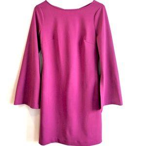 DONNA MORGAN purple bell sleeve dress 2